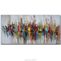Large Size Hand Painted Abstract Design Oil Painting On Canvas Abstract Colormixed Wall Picture Living Room Bedroom Home Decor