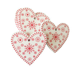 New Year 2020 Christmas Snowflake Wooden Pendant Xmas Tree Decorations for Home Wood Hanging Crafts Navidad 2019 Noel Natal Deco 4