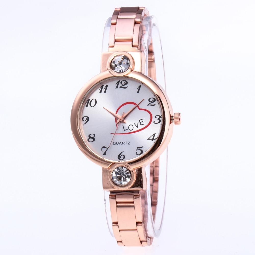 Brand Gold Plated Circles Strap Stainless Steel Back Shinning Women Bracelet Watches Fashion Wrist Watch relogio feminino relogi