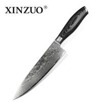 8 Inches Chef Knife High Quality 73 Layers Japanese VG10 Damascus Steel Kitchen Chef Knife Sharp