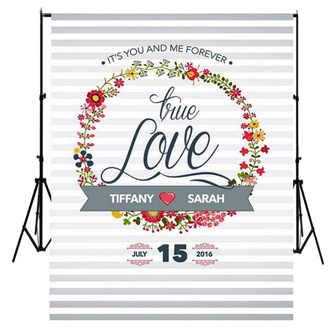 wedding photo studio backdrop photography background sweet heart love letter vinyl backdrop photocall f 611