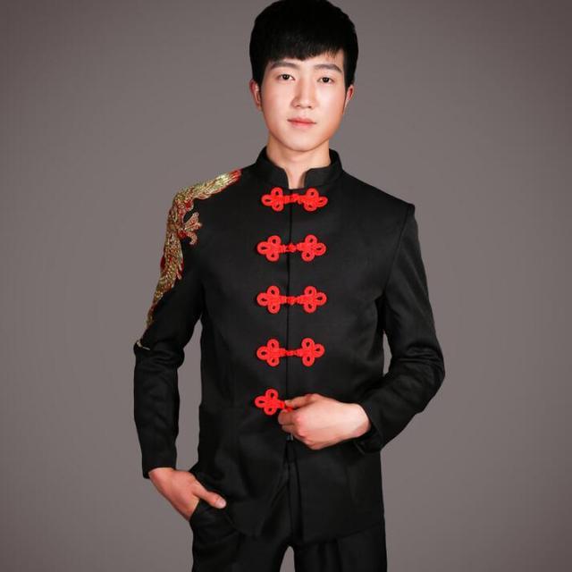 13a80b7a4d Cantante de pista de baile ropa para hombres chino vestido de traje con pantalones  2019 hombres