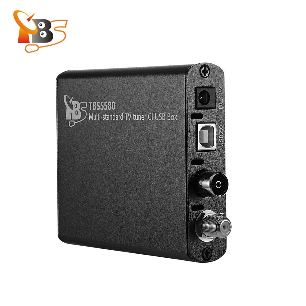 TBS5580 Multi-standard Universal TV Tuner CI USB Box for Enjoying DVB-S2X/S2/S/T2/T/C2/C/ISDB-T FTA / Encrypted Pay TV on PC