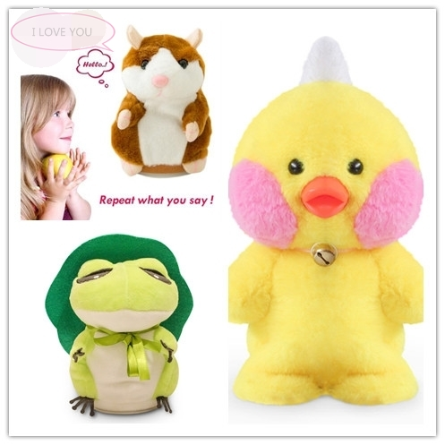 Humor Ted, Gifts and Plush Toys For Children,Electronic,Musical,Talking,Interactive Christmas Hamster,Duck,and Frog