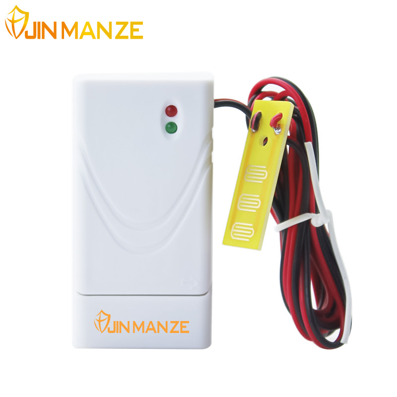 1pcs JINMANZE New 433mhz Wireless Water leak Detector for Home Commercial Security Wireless GSM Alarm System Device Flood Sensor 1 pcs full range multi function detectable rf lens detector wireless camera gps spy bug rf signal gsm device finder