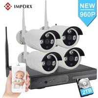 4CH CCTV Системы 960 P Беспроводной NVR комплект Открытый Водонепроницаемый 1.3MP 4 шт. IP Камера Wi-Fi видеонаблюдения Системы видео комплект видеонабл...