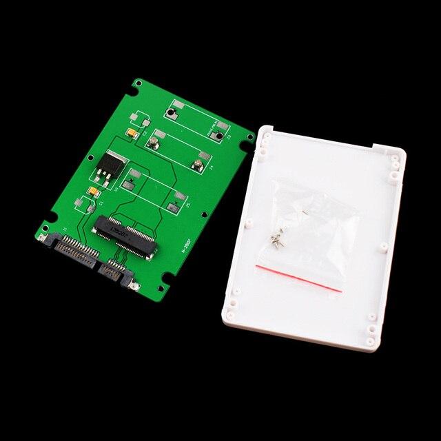 Adaptateur mSATA vers SATA pour SSD, carte convertisseur, avec boîtier de 2.5 pouces #67544