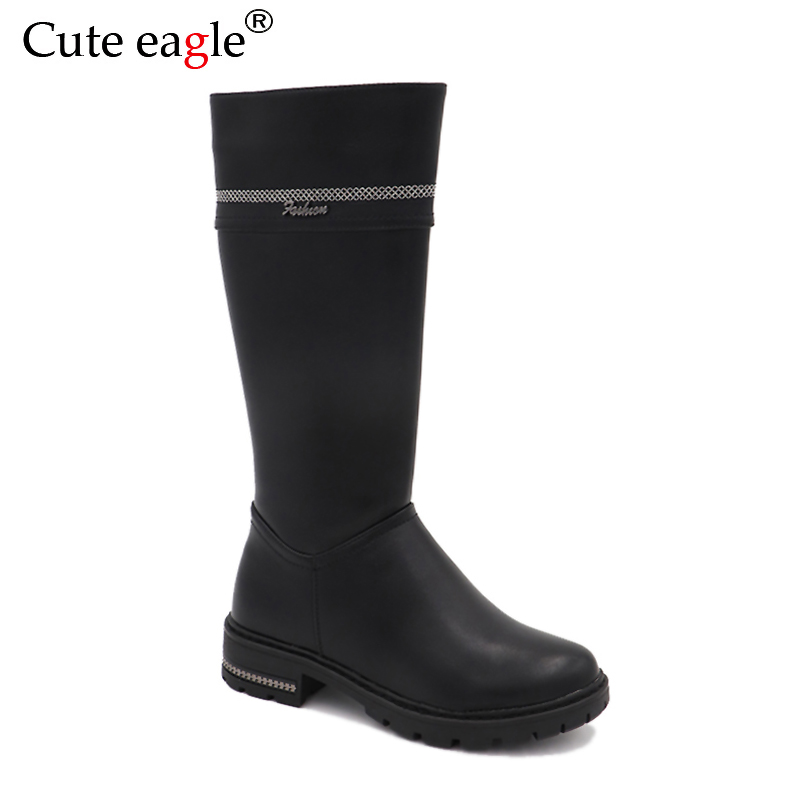 Cute eagle Winter  Leather Felt Boots Children Girls Shoes Kids Warm With Plush Snow Boots Girls Baby Fashion High Rubber BootsCute eagle Winter  Leather Felt Boots Children Girls Shoes Kids Warm With Plush Snow Boots Girls Baby Fashion High Rubber Boots