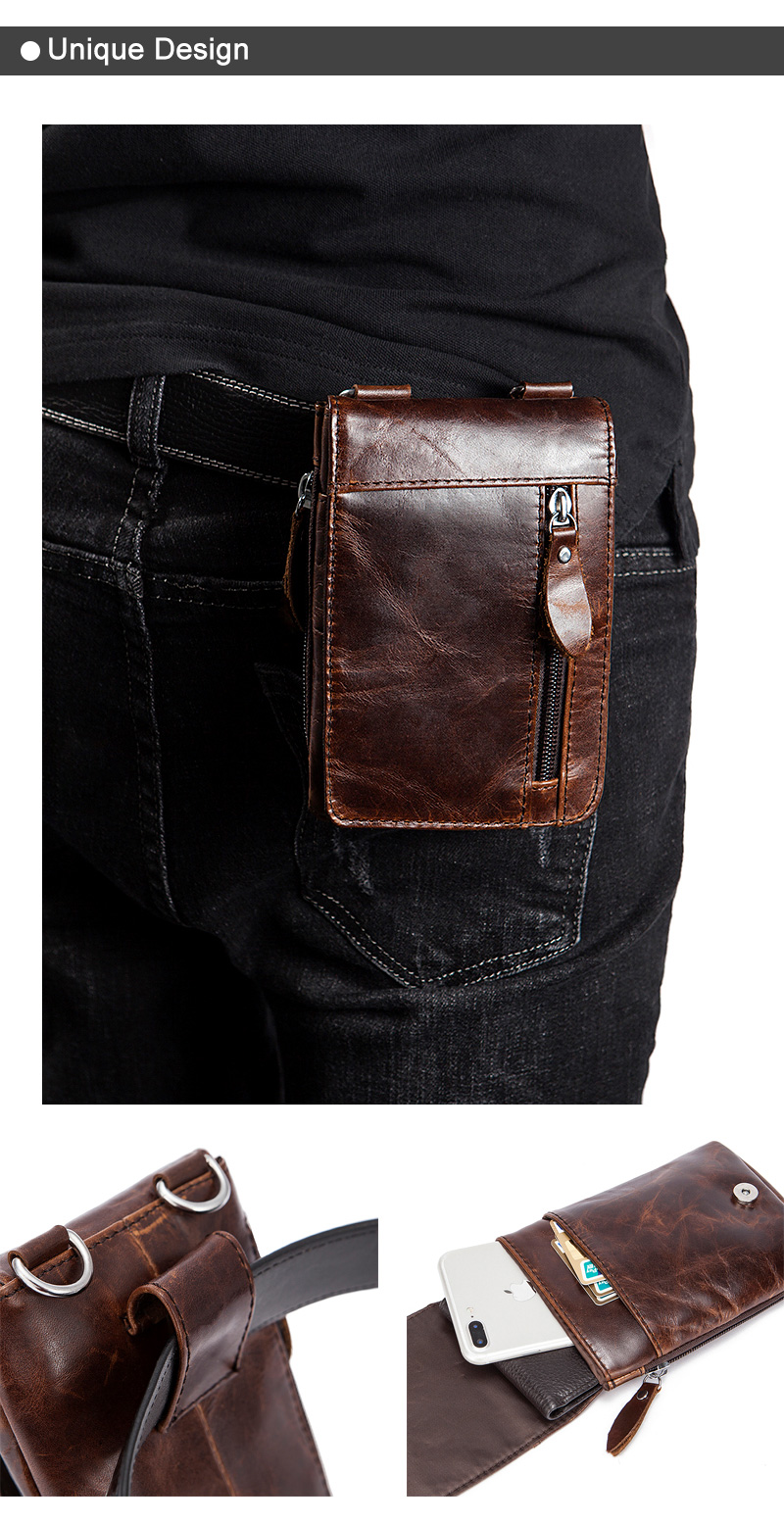 9cf6e6bbd13 MVA Genuine Leather Waist Packs Fanny Pack Belt Bag Phone Pouch Bags Travel  Waist Pack Male Small Bag Leather Pouch 702