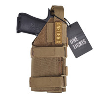 OneTigris Tactical Gun Holster Molle Modular Belt Pistol Holster For Right Handed Shooters Glock 17 19