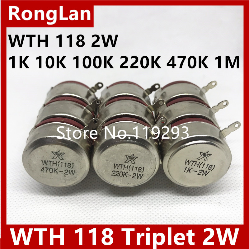 BELLA WTH 118 2W triple potentiometer 1K 10K 100K 220K 470K 1M 5pcs lot