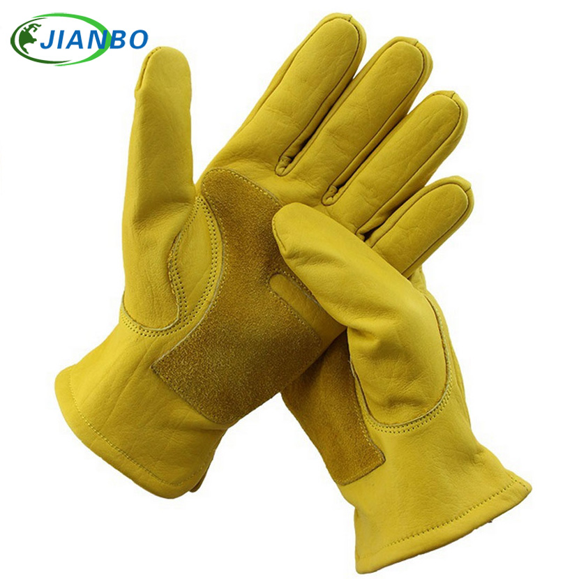 Mechanics Driver Men Moto Work Gloves Waterproof Safety Garden Gloves Leather Welding Protective Cowhide Racing Garden Gloves