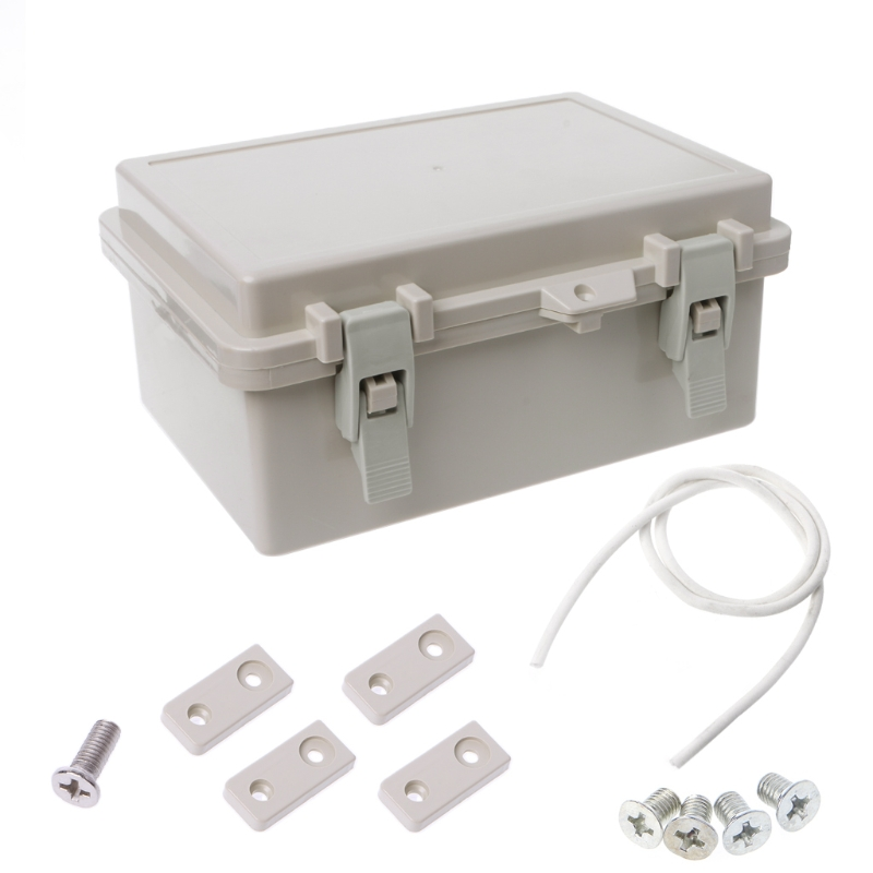 IP65 Waterproof Electronic Junction Box Enclosure Case Outdoor Terminal Cable #Aug.26 1pc abs waterproof electronic junction box screw mayitr plastic sealed enclosure case shell outdoor terminal cable 240 170 110mm