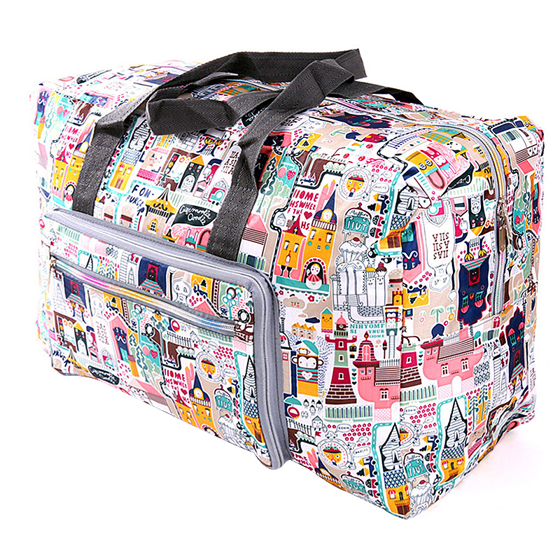 Foldable Trolley Travel Bags Organizer Women Zipper Clothes Packing Cubes Luggage Duffle Handbag Accessories Supplies Products