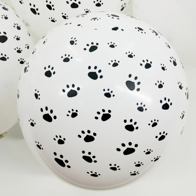 10PcsDog Paws Balloon Footprint Latex Babyshower Printed Birthday Decorations Balloons kids Wedding Party Theme Decor Supplies in Ballons Accessories from Home Garden