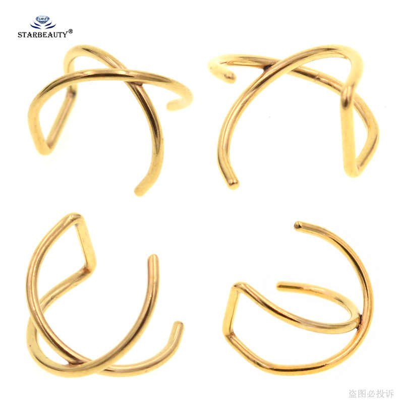 2 pçs 0.8/1.2x8mm x cruz hélice piercing brinco orelha aço inoxidável helix anel lábio falso piercing orelha pircing hélice brincos