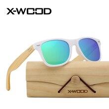 X-WOOD Fashion Square gafas de Sol Polarizadas Hombres Mujeres multicolor Masculino Gafas De Sol De Diseñador de la Marca gafas de Sol Oculos