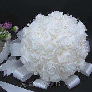 Image 2 - Đám Cưới lãng mạn Phù Dâu Tăng Ngọc Trai Nhân Tạo Hoa Bó Hoa Bridal Handmade Bó Hoa Cưới