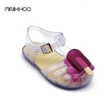 Mini Melissa Gelée Chaussures Bébé Sandales Popsicle Filles Sandales Popsicle Crème Glacée Sandales Filles Melissa Sandales Romaines 14 cm-19 cm