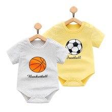 Football style baby onesies