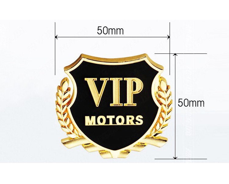 Auto styling VIP Metal sticker modified for Maruti 800 Alto Baleno Esteem Gypsy Zen / Alpina B3 B4 B5 B6 B7 D3 D5 Roadster XD3