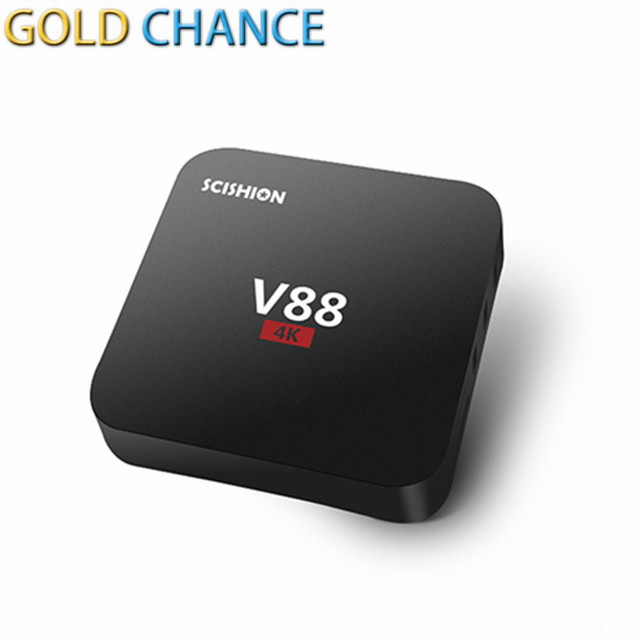 V88 Android 5.1 4 K TV Box RK3229 Mali-400 1G RAM 8G eMMC 4 USB 4 K WiFi KODI Reproductor Multimedia Completo Cargado Quad Core 1.5 GHZ Mini PC