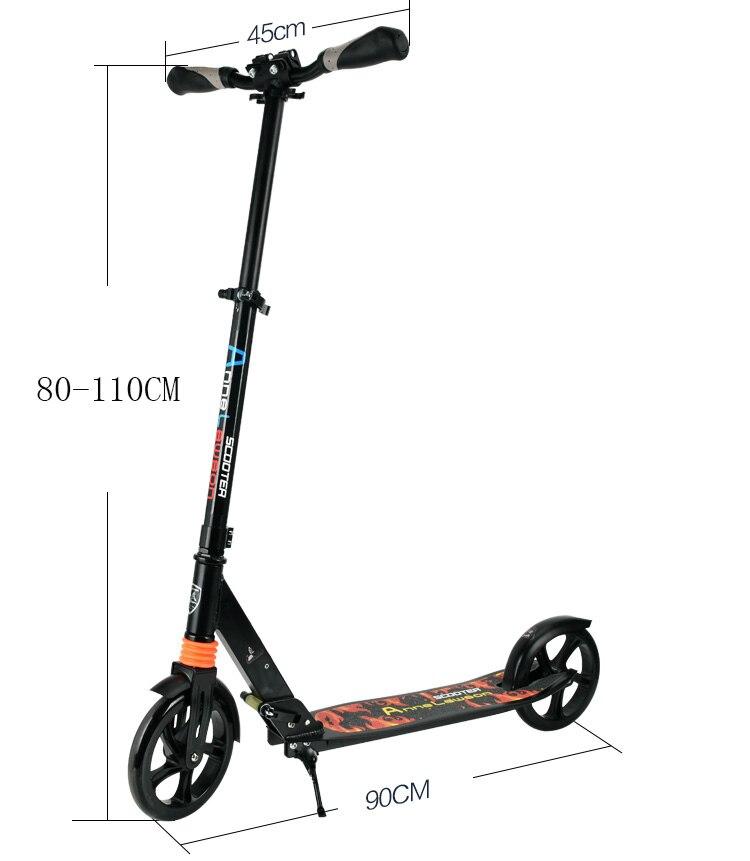 Nouveau Scooter robuste léger hauteur coup de pied Scooters réglable en alliage d'aluminium t-style pliable adultes Scooters - 3