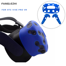 For HTC Vive Pro VR Silicone Case Cover VR Glasses Helmet Controller Handle Case for HTC Vive Pro Protector Headset Handle Shell цена и фото