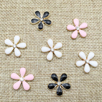 2016New 100Pcs Flowers  Rhinestone Buttons/Buckle Embellishment button DIY Hair accessories