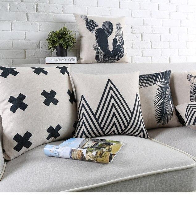 online shop cactus pillow case decorative cushion cover zebra black
