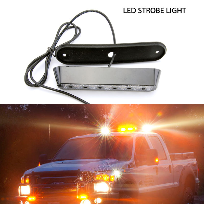 Бесплатная доставка 4 шт. 6 Вт 4x4 внедорожный авто спереди и сзади мигающий светодиод свет сигнала Включите предупреждение чрезвычайных ламп...