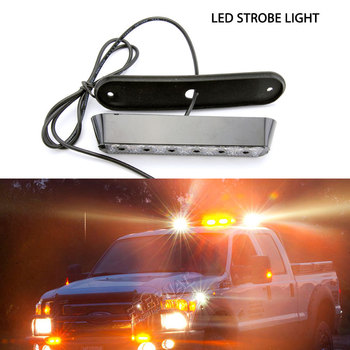 free shipping 4pcs 6W 4x4 offroad auto cars front rear led strobe light signal turn warning emergency lamp with 16 flash modes
