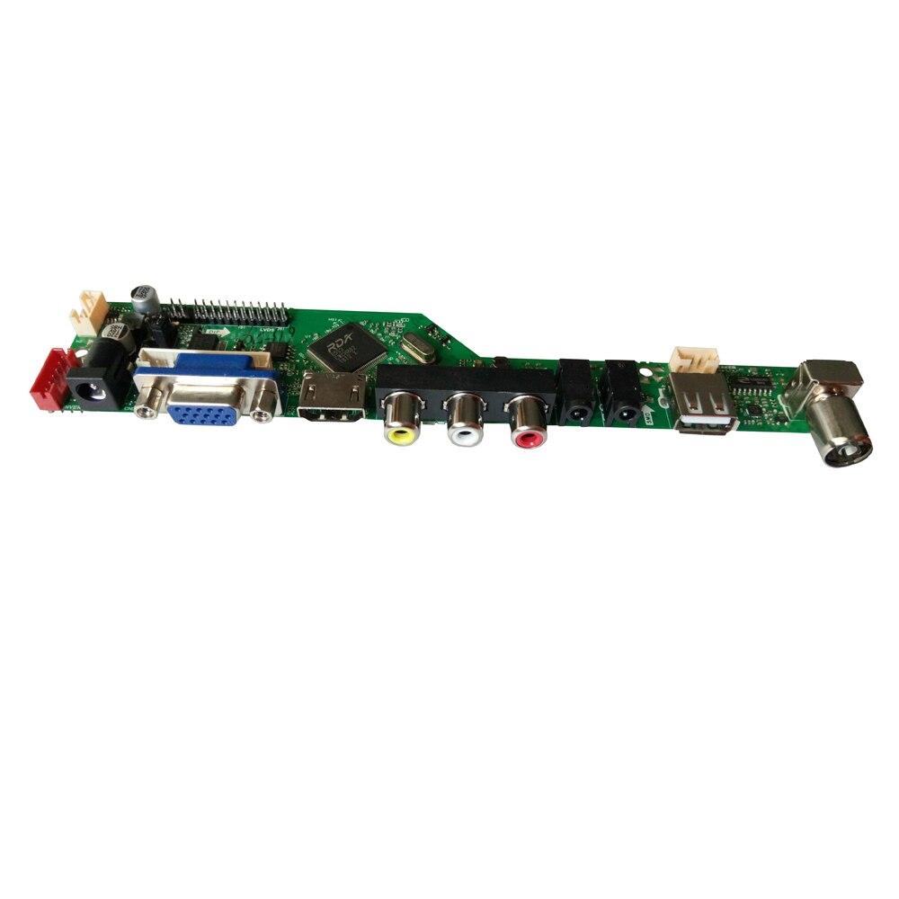 HDMI USB AV VGA ATV PC T. V56.031 kit de carte contrôleur LCD Plus 15.6 pouces 1366x768 LP156WH4 TLA1 Kit de moniteur LVDS - 4