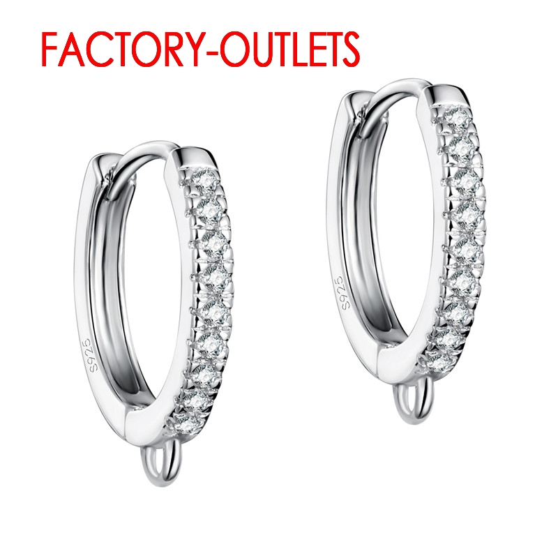 Fast Delivery Genuine 925 Sterling Silver Earring Findings DIY Fashion Jewelry Accessory High Quality With CZ Factory Price