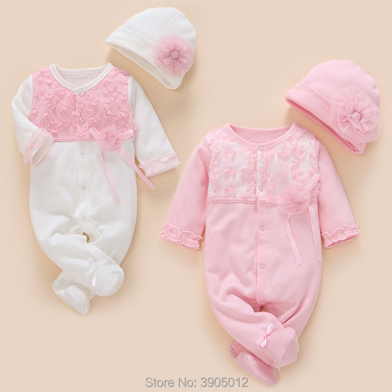 2018 New Infantil For Bebek Baby Girl Born Spring Clothing And Autumn Cotton 0-3 Months 6 Newborn Princess Single Breasted