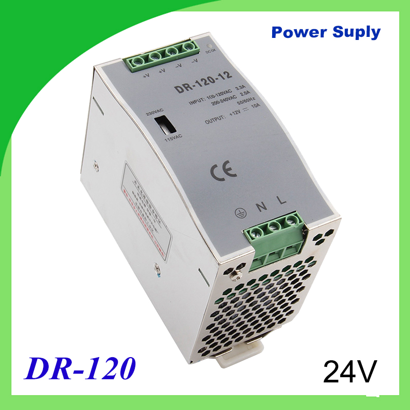 купить DR-120-24 Din rail power supply 120w 24V power suply 12V/15V/24V/48V 120w ac dc converter dr-120 good quality недорого