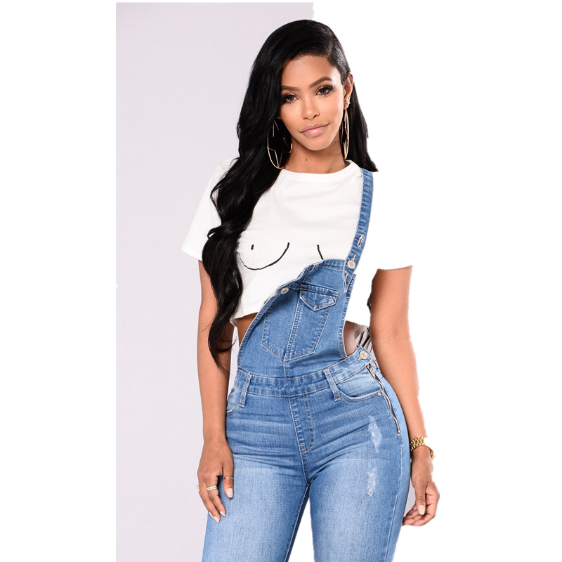 8bd098a288c8 New hot European and American fashion personality Slim high waist was thin  sexy women s sling denim jumpsuit