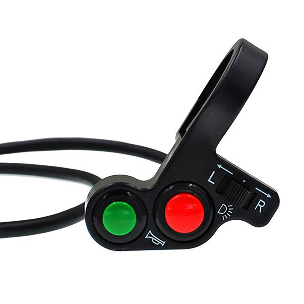 Motorcycle <font><b>Switch</b></font> Light 3 in 1 Turn Signal Horn ON/OFF Button Electric <font><b>Bike</b></font> Scooter Quad for 22mm Dia <font><b>Handlebars</b></font> Accessories image