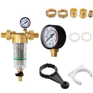 Image 4 - 水プレフィルターシステム2/5インチ & 1インチ真鍮メッシュプレフィルター清浄機w/減速アダプタ & ゲージ