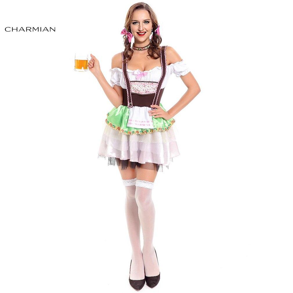 Charmian Sexy German Beer Girl Oktoberfest Costumes Adult