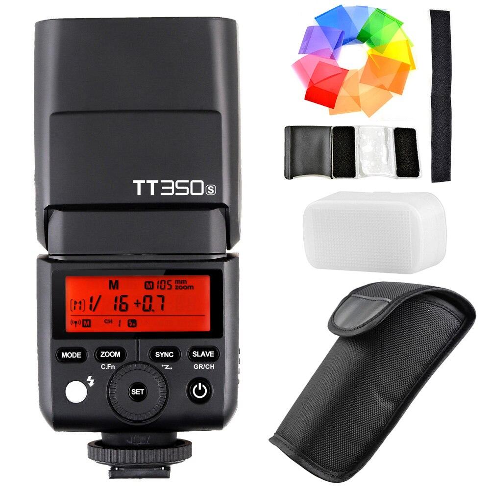 Godox Мини Speedlite TT350S Камера Flash ttl HSS GN36 1/8000 s для sony беззеркальных DSLR Камера A7 A7R II A7S A6000 A6500 серии