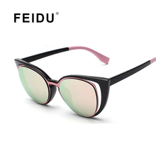 FEIDU 2016 New Мода Cat Eye Солнцезащитные Очки Женщины Марка Дизайнер Ретро Feminino Drive Солнцезащитные Очки UV400 Gafas Óculos De Sol