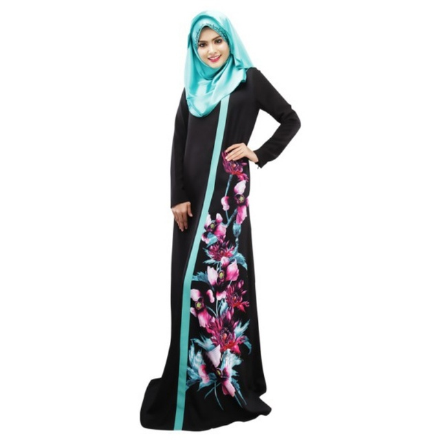 Top African Dresses For Women Lady Kaftan Abaya Jilbab Islamic Muslim  Floral Long Sleeve Maxi Cocktail Dresses Y4 2e7b32d4f