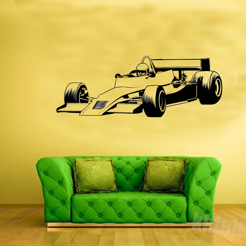 Wall Stickers F Racing Car Driver Creative Game Home Interior - Wall decals cars