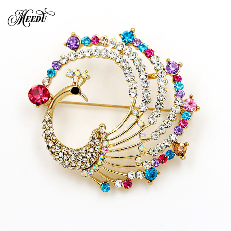 Detail Feedback Questions about MEEDU Retro Colorful Crystal Peacock Brooches  For Women Wedding Party Brooch Pins Fashion Dress Coat Clothes Accessories  on ... ff8e57c68aa2