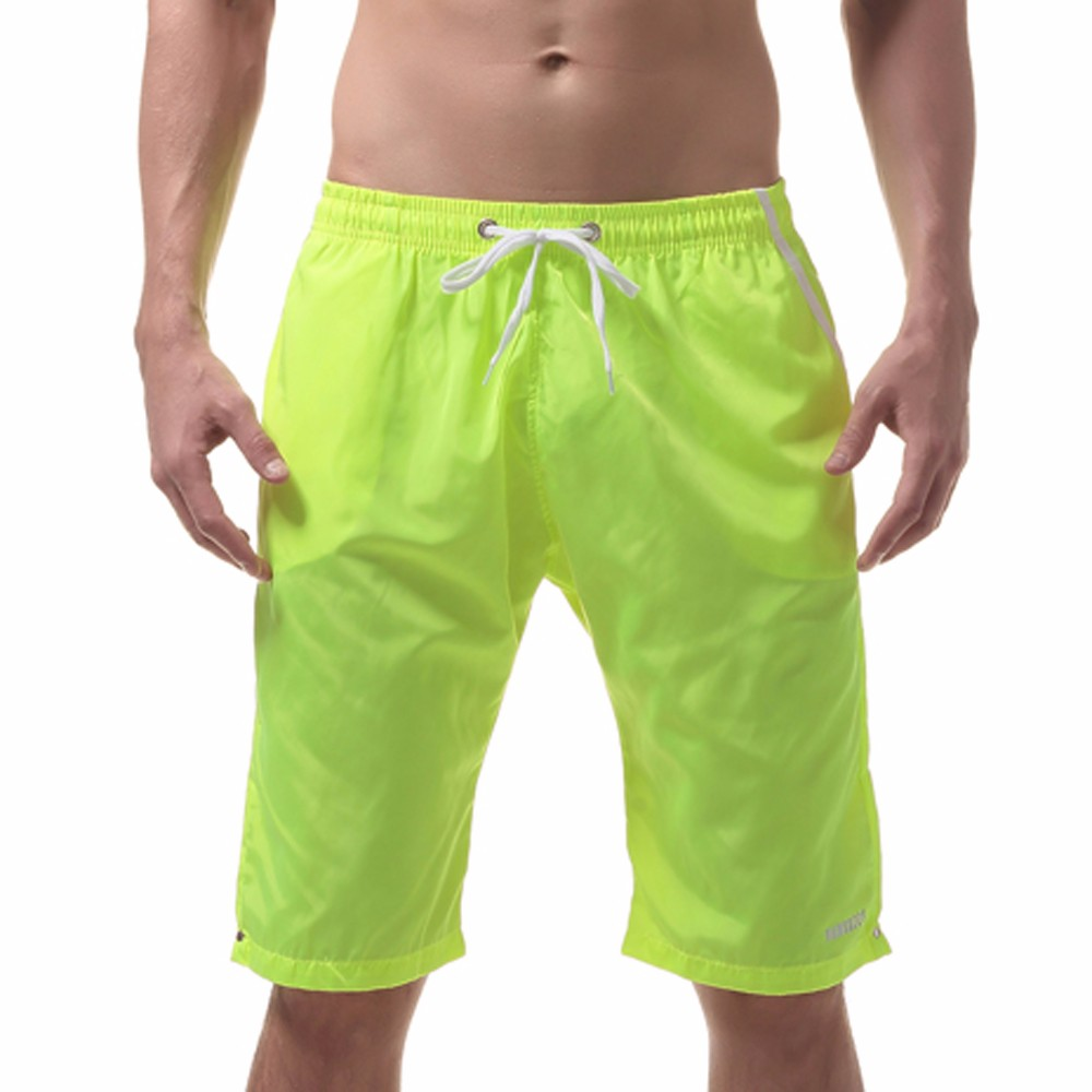 Board Shorts Chamsgend Shorts Mens Board Shorts Surfing Trunks Blue Red Plaid Print Patchwork Beach Shorts Swimwear Male Short Pants 9feb.12