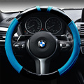 Carbon steering wheel cover microfiber leather stitching to cover automotive supplies perforated leather / steering wheel