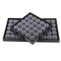 Nail Art Decorations Storage Plate Tool Case Nail Glittering Rhinestones Dust Powder Flowers Collection Box