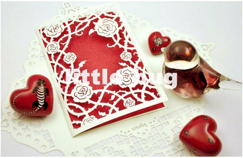 Delicate Rose Carved Wedding Pop up cards Birthday cards Novelty – Novelty Birthday Cards