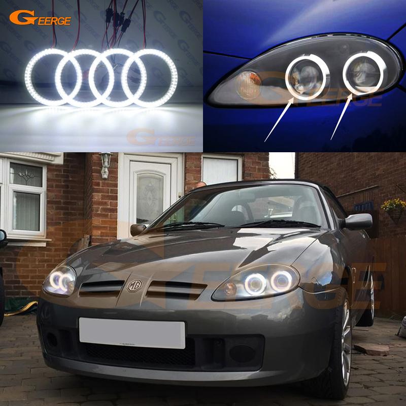 For MG TF MGTF 2002 2010 Excellent Ultra bright illumination smd led Angel Eyes kit DRL